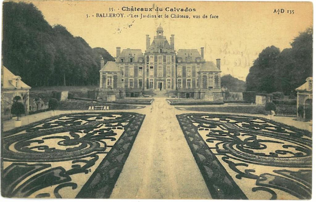 Balleroy Les jaidins et la Chateau vus de face