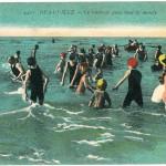 Vintage postcard Deauville seaside