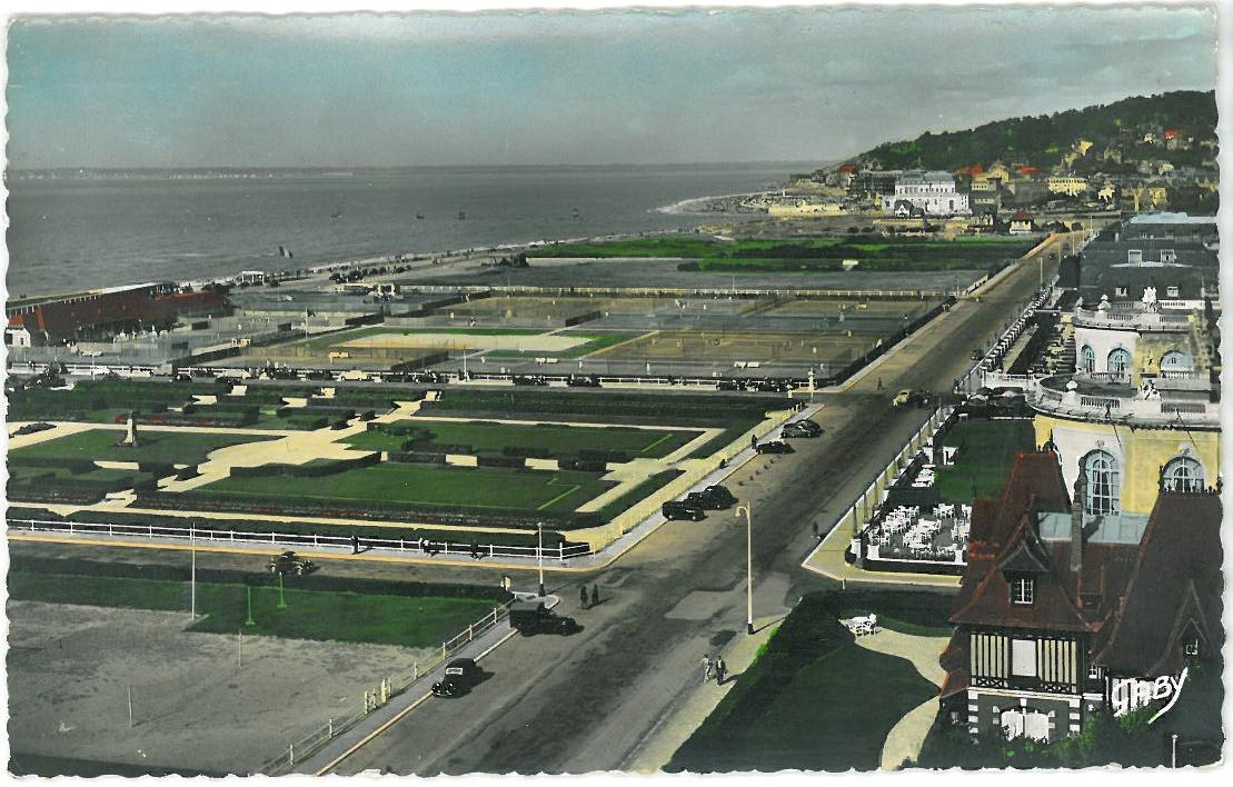 View of Boulevard Eugène Cornuché in 1936, the roofs of Villa Abeilles are on the right