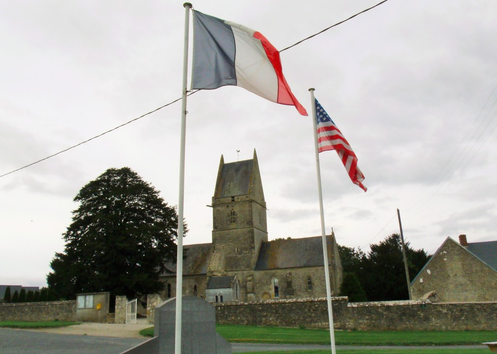 The memorial and church at Angoville-au-Plain
