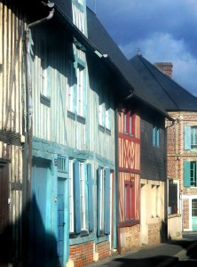 Pretty timbered houses of Pont L'Eveque
