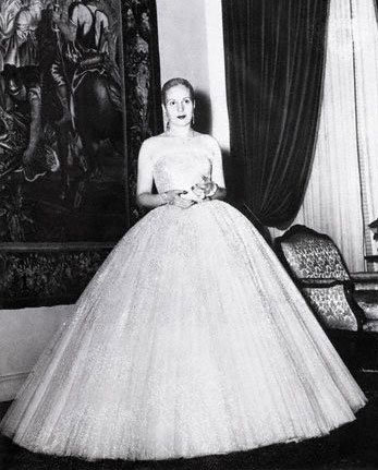 Dior's New Look as evening wear, with Eva Peron