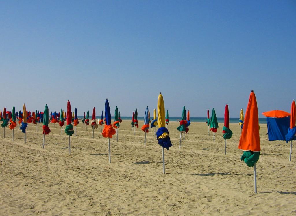 Deauville beach, heaven