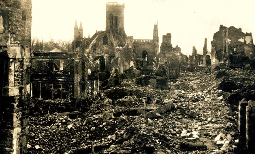 vire-church-1944-post-bombardment