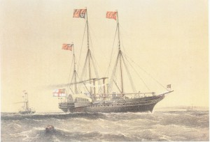 The royal yacht 'Victoria and Albert' in 1855