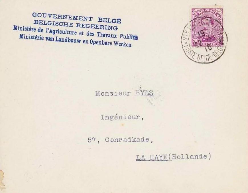 Letter from Belgium, in Sainte-Adresse