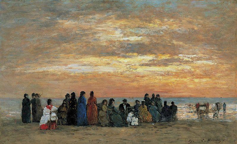 Eugène Boudin; Les figures sur la plage