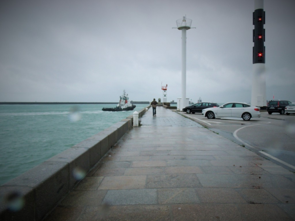 Outside MUMA art gallery in Le Havre - yes we went for the gallery option