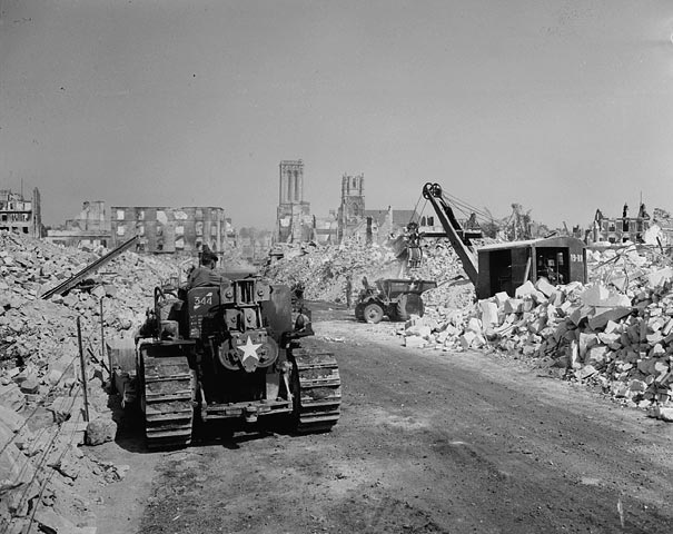 The widow and the battle for caen normandy then and now - Rue saint laurent caen ...