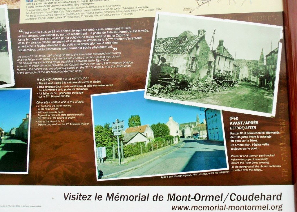 Then and now information in Chambois - click on the pic to enlarge