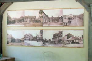 A display of old postcards in the village, click to enlarge.