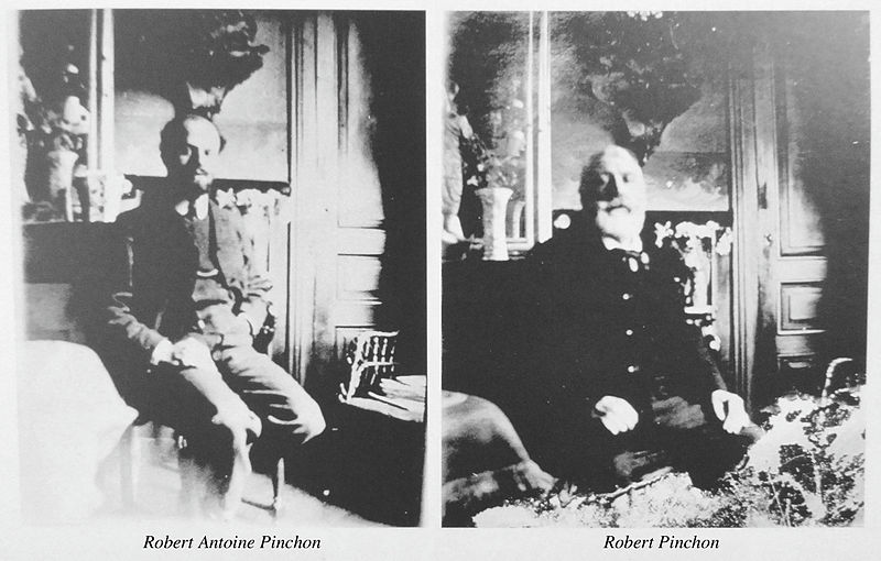 Robert Antoine Pinchon (left) and his father (right)