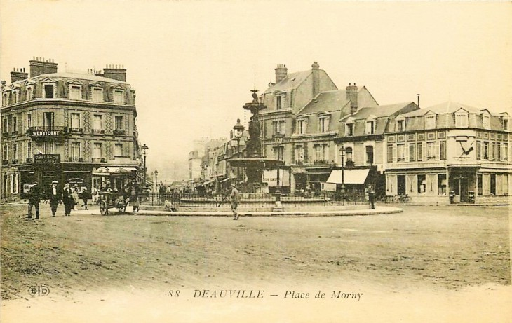 Distracted by the deluge, in Deauville