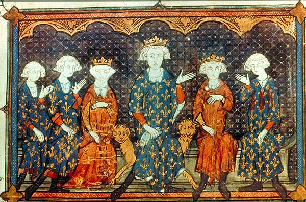 Charles and Philip, Isabella herself, her father, Philip IV, her brother Louis, and her uncle, Charles of Valois
