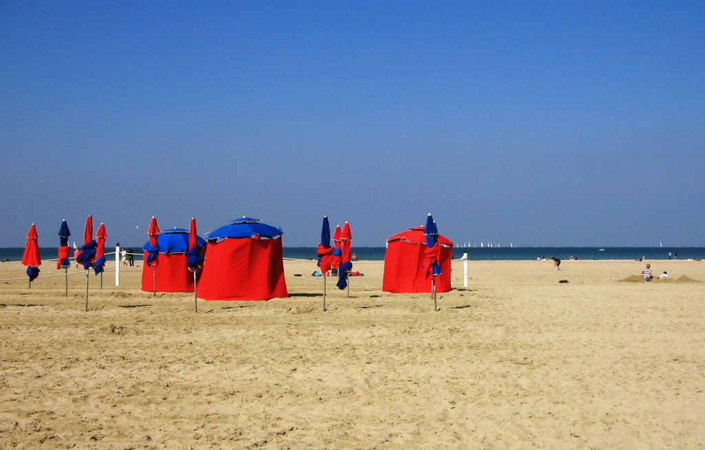 Well yes best to visit Deauville in the sunshine and possibly the most elegant beach in the world.