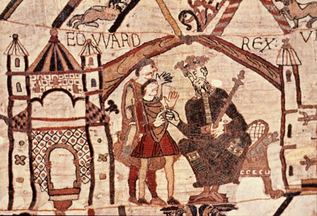 Edward the Confessor has a chat with Harold Godwinson