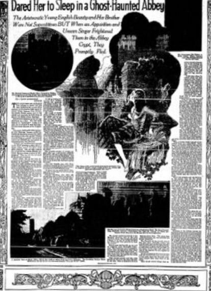 Newspaper article from 1932 on the ghostly haunting Vanessa and John.