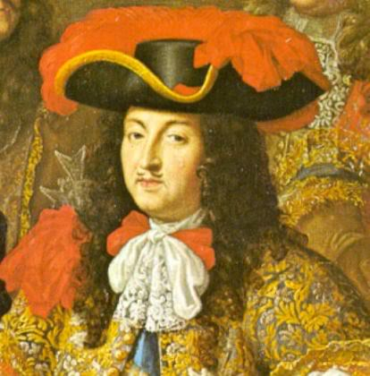 Louis XIV in another Caudebec hat - he really didn't think through that edict...