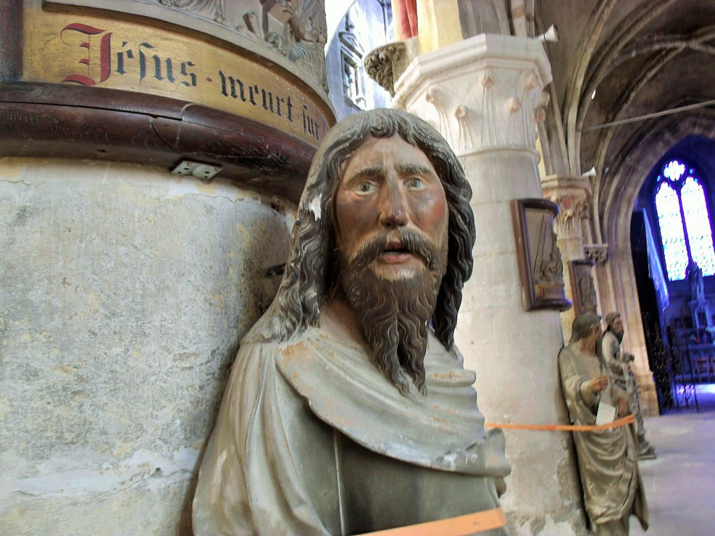 16th century saint in the Church at Louviers