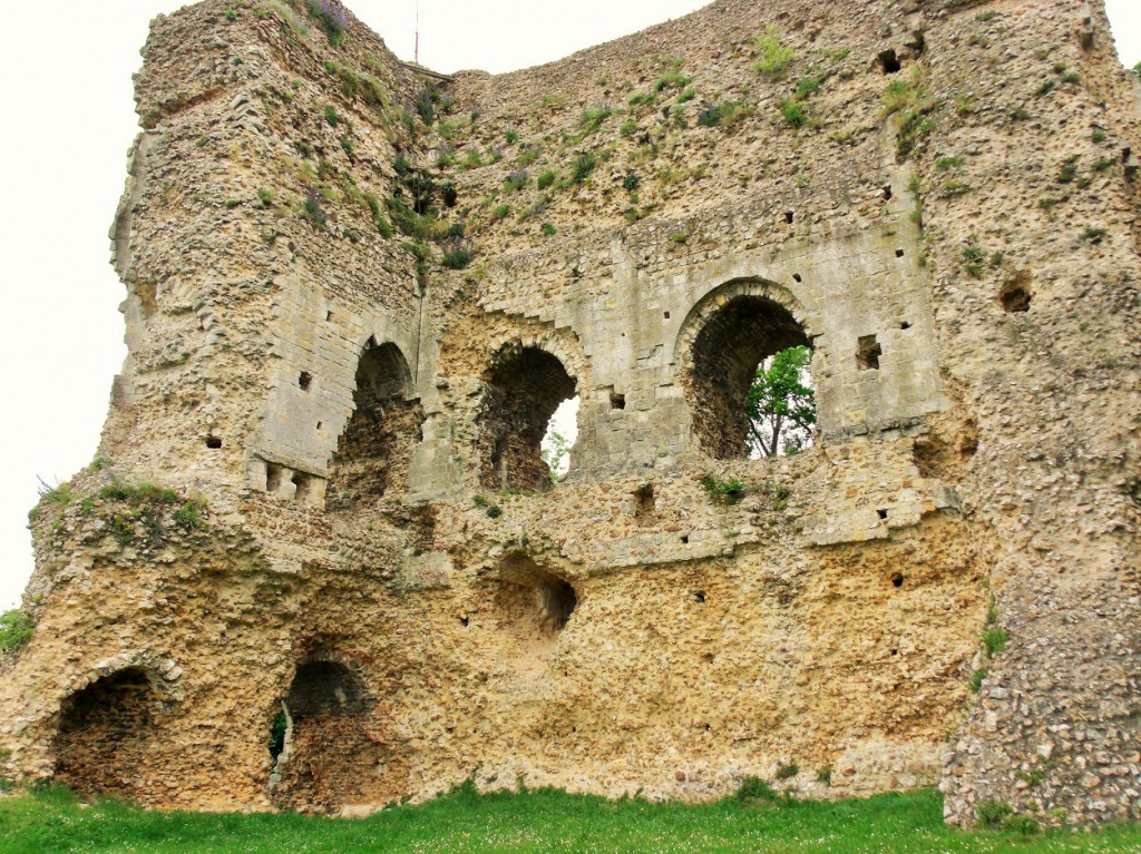 Ruins of he XI century Norman fortification at Brionne, Normandy
