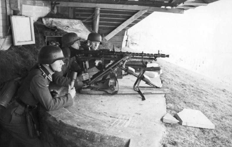 German soldiers in the command post at Dieppe
