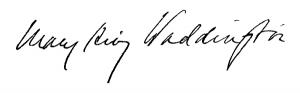 mary waddington signature