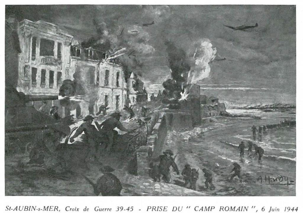 st-aubin-s-mer-croix-de-guerre-39-45-prise-du-Camp-Romain-6-June 1944-1024x721