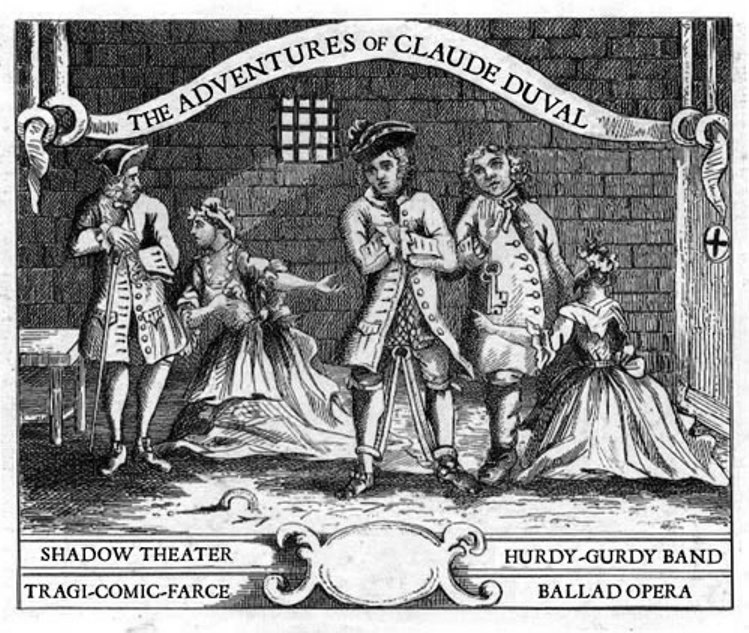 Ladies queued up to see Claude in Newgate, disguising themselves with masks.