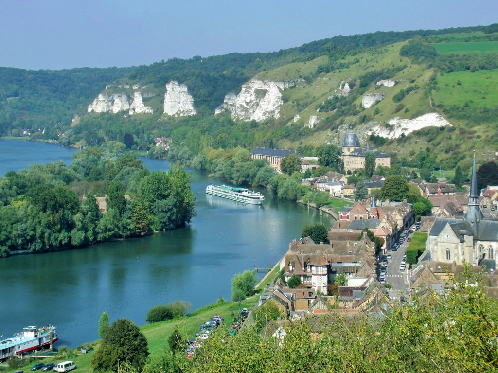 View from Château Gaillard to Petit Andelys and the Seine - stunning.