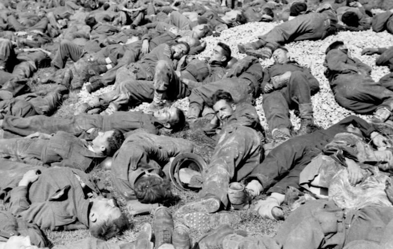 British and Canadian prisoners at Dieppe, August 1942