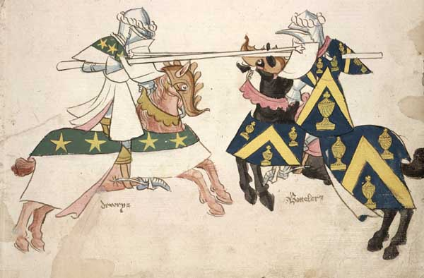 Jousting, a hundred years or so later, but you get the idea