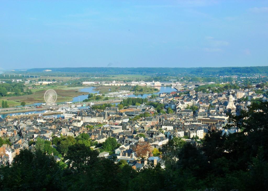 Match! From Mont Joli, across Honfleur to Pont de Normandie