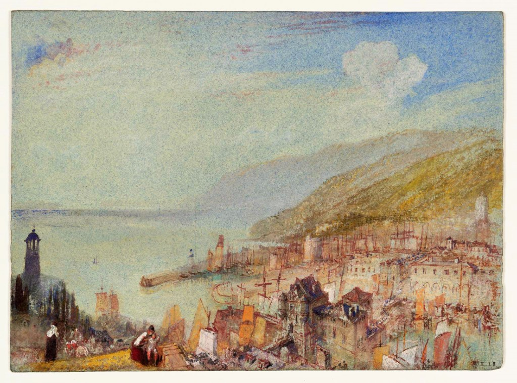 Honfleur, Normandy from the West c.1832 by Joseph Mallord William Turner, courtesy of Tate Gallery, London