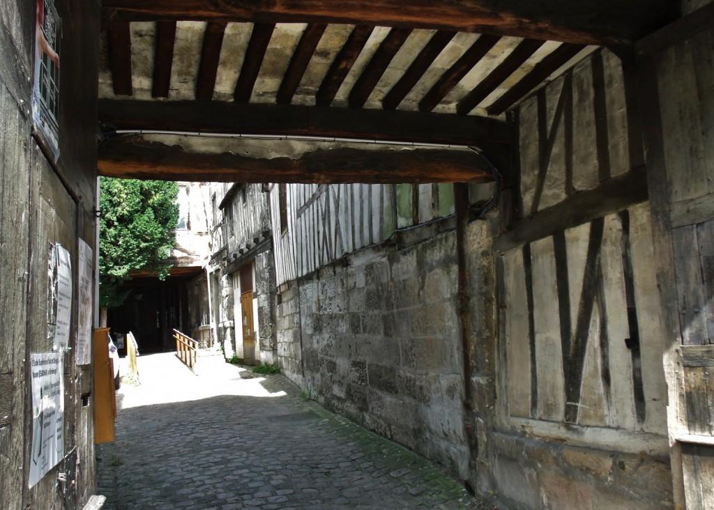 Entrance to L' aître Saint-Maclou in Rouen