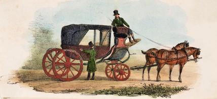 19th century horse drawn cab