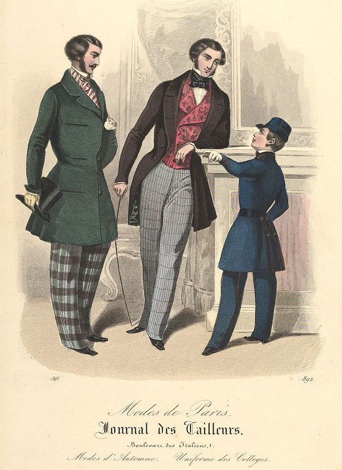 Again from the tailors mid 19th century illustrated - Léon in the pink we think.