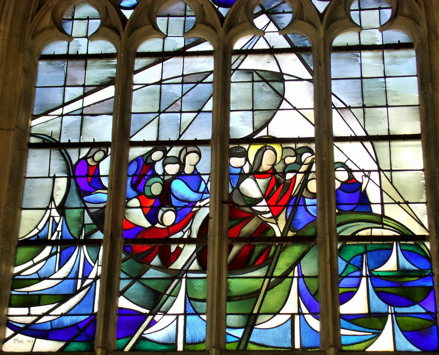 windows l'eglise Saint Jean Caen by Danièle Perre