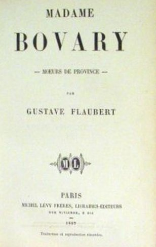Title page of the first edition of Gustave Flaubert's Madame Bovary (Lévy, Paris, 1857).