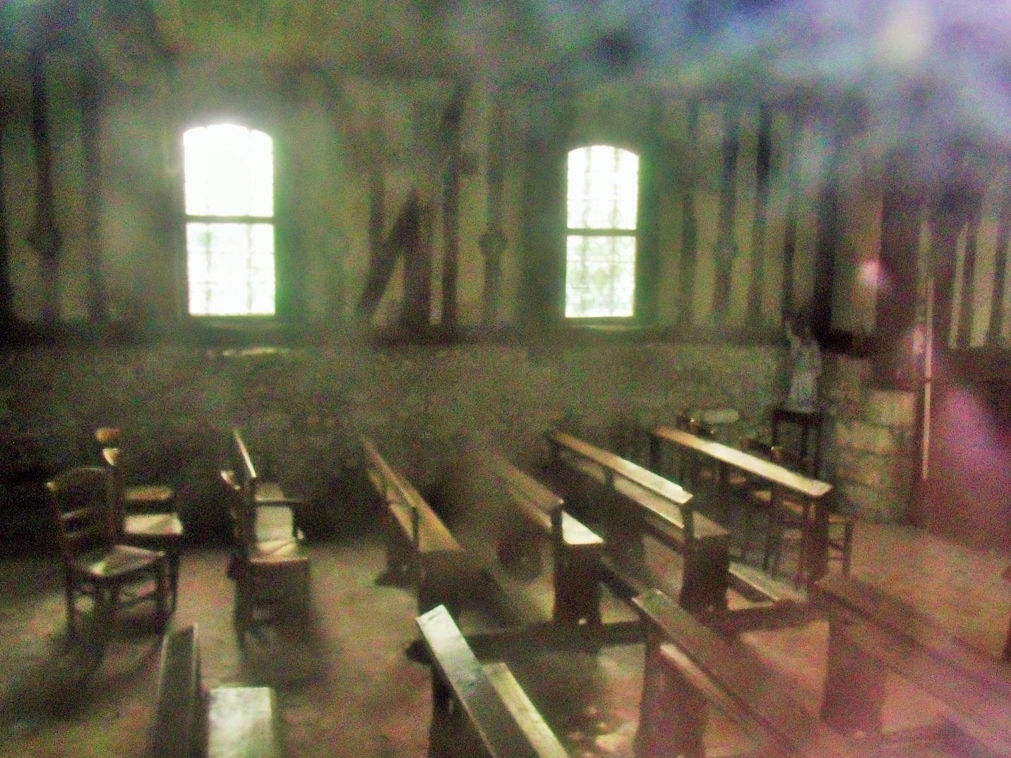 Chapelle Saint Vincent Normandy dusty interior