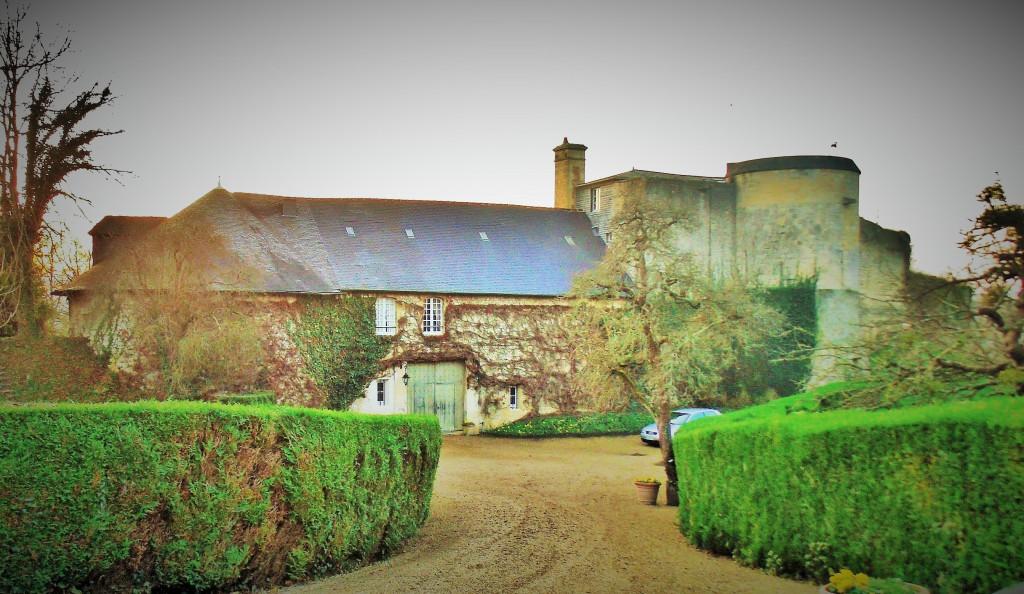 Match! William the Conqueror's castle at Bonneville sur Touqes - rare view while the gates were open.