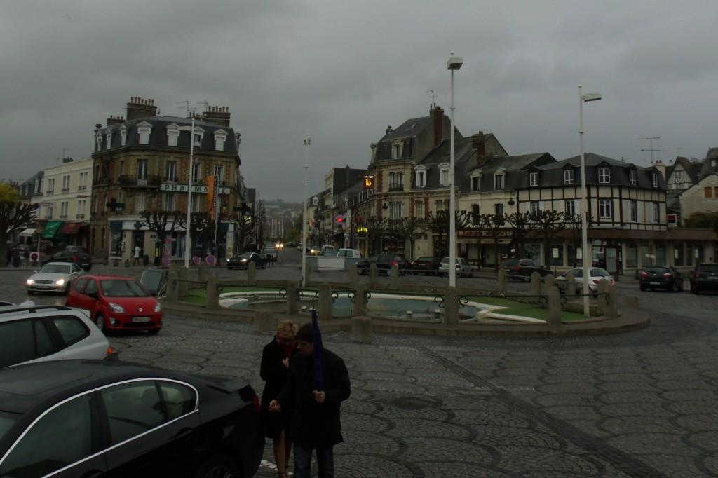 Place de Morny, Deauville, in the rain