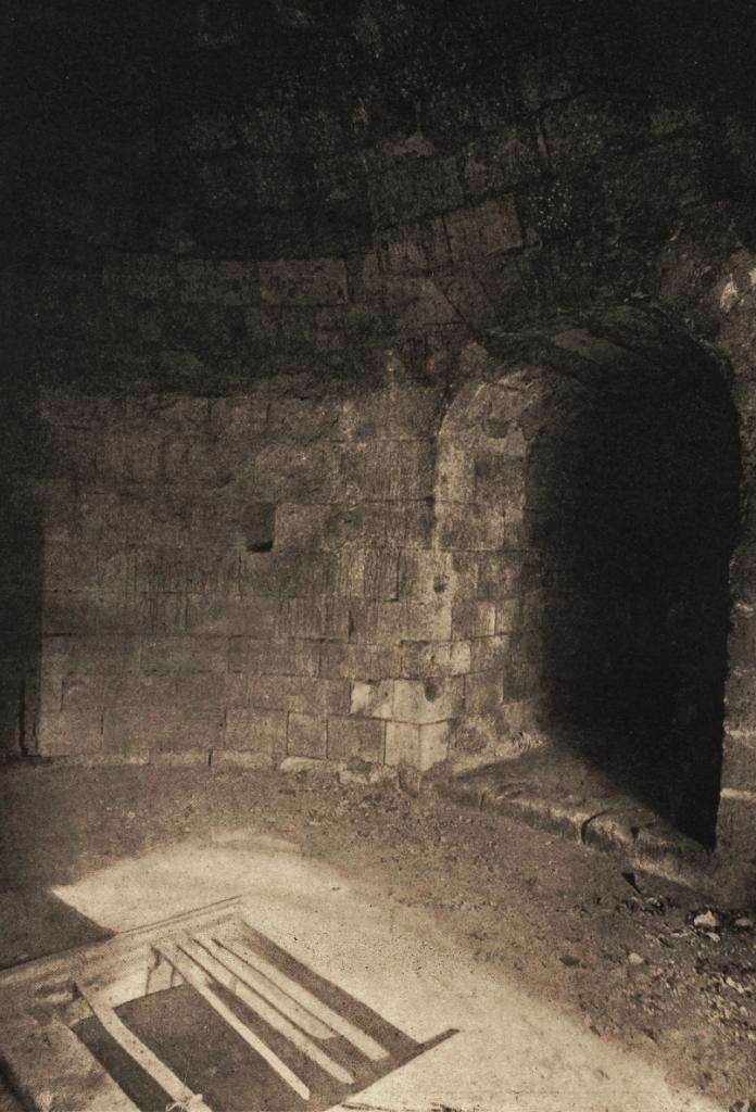 Interior of the south west tower, Le château de Bonneville-sur-Touques