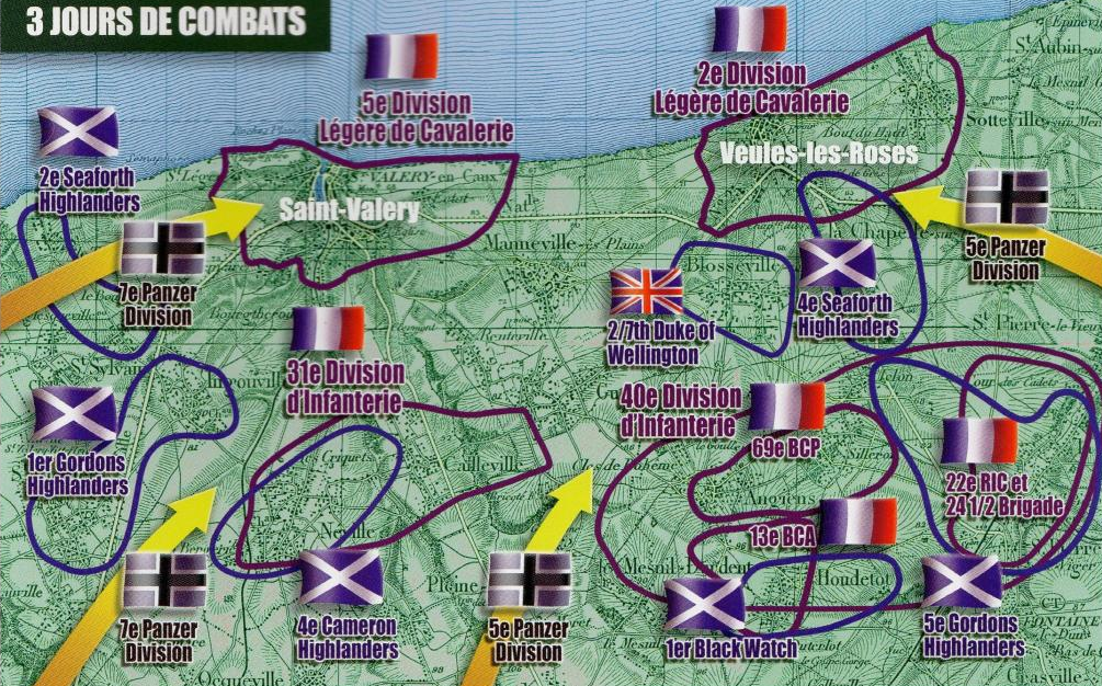 Positions around Saint-Valéry-en-Caux and Veules-les-Roses, 10 - 12 June 1940