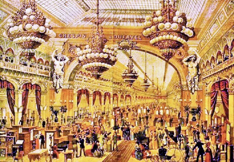 Interior of Les Grand Magasin Dufayel in Paris