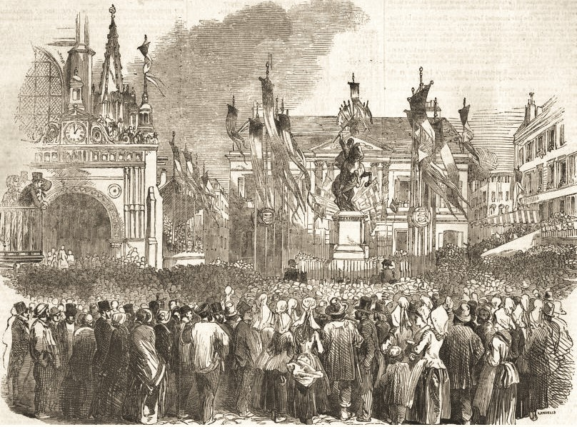 statue of william the conqueror by brothers Charles and Louis Rochet unveiled oct 26 1851