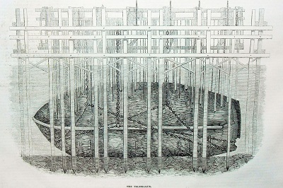 1842 illustrated london news raising the treasure ship Telemaque