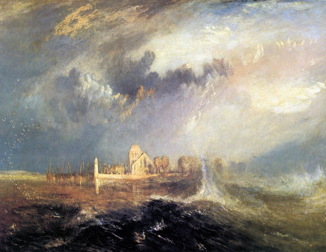 Quillebeuf, mouth of the Seine, by JMW Turner