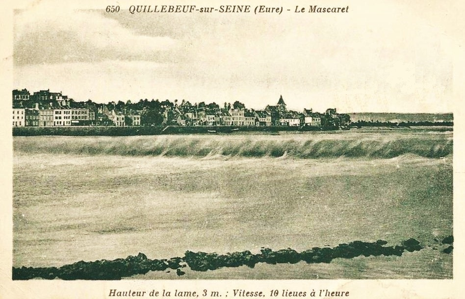 Le Mascaret, the tidal bore, at Quillebeuf, 3m high