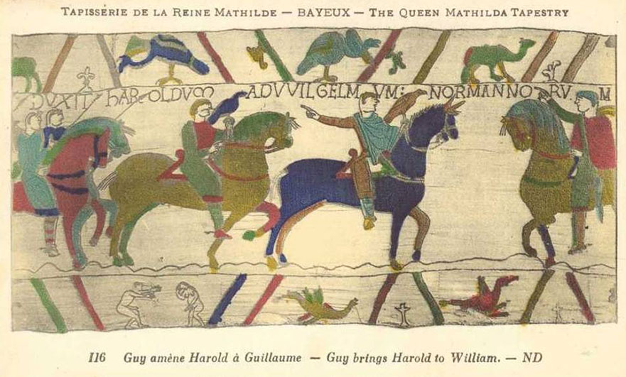 Postcard of the Bayeux tapestry