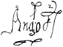 The only relic of Jean d'Ango, a signature